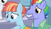 Bow and Windy very worried about Rainbow Dash S7E7