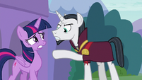 Chancellor Neighsay scorning Twilight S8E1