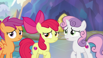 Cutie Mark Crusaders hear Twilight Sparkle S8E12