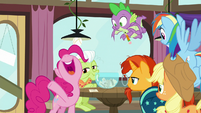 """Pinkie Pie happily shouts """"present!"""" S9E16"""