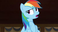 """Rainbow Dash """"she was only in a rush because"""" S7E18"""