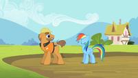 Rainbow Dash safe & sound S2E8