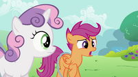 Sweetie Belle and Scootaloo Sad S2E6