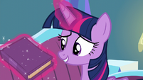 "Twilight levitates book ""What's funny about that?"" S5E12"