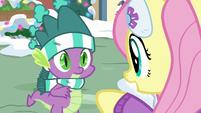Fluttershy talking to Spike MLPBGE