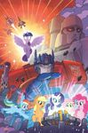 My Little Pony Transformers issue 1 cover A textless