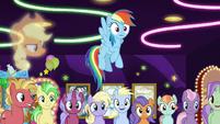 Rainbow Dash realizing something S8E5