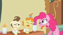 S02E13 Śmieszne miny Pinkie Pie, Pounda i Pumpkin