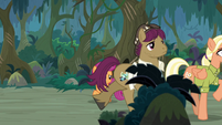 Snap and Mane leaving Everfree Forest S9E12