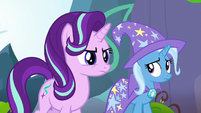 Starlight Glimmer glares at the changelings S7E17