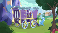 Starlight coughing out a wagon window S8E19
