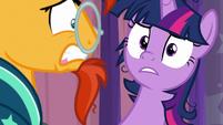 Twilight Sparkle's expression softens S9E16