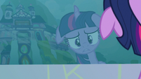 Twilight Sparkle's reflection in the water S8E2
