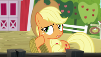Applejack --just couldn't let those spa ponies-- S6E10
