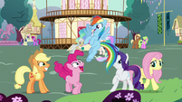 Main five ponies in Celestia's flashback S7E1