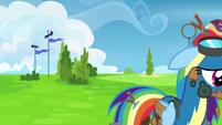 Rainbow Dash walks away in shame S6E7
