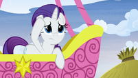 Rarity looking around for Pinkie Pie S8E18