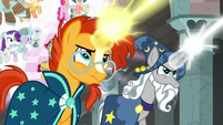 Star Swirl and Sunburst throw more magic ropes S7E26