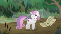 Sweetie Belle walks into a mud bog S9E22