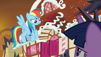 Rainbow Dash looking determined S9E2