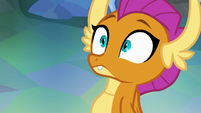 Smolder in wide-eyed surprise S8E22
