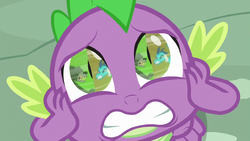 Spike watching Thorax and Ember fight S7E15.png