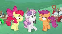 Sweetie Belle interpreting the older ponies' words S6E14