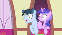 Tenth Doctor and Sea Swirl look interested MLPS5