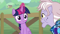 Twilight blushes with embarrassment S9E5