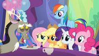 Discord having a tea party S7E1