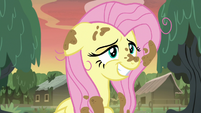 Fluttershy with an embarrassed grin S7E20