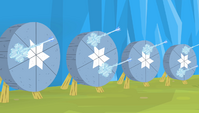 Ice arrows freezing over targets S4E24