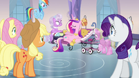 Main ponies and sitting Cadance S03E12