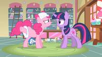 Pinkie Pie explaining details S2E13