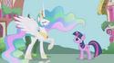 Princess Celestia in Ponyville S1E2