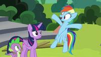 """Rainbow """"I gotta tell everypony I know!"""" S8E7"""