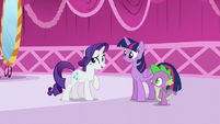 """Rarity """"You've returned from your book sorting sabbatical!"""" S5E22"""