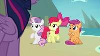 Twilight Sparkle returns to the Crusaders S8E6