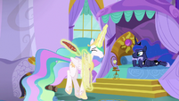 Celestia prancing with excitement S9E13