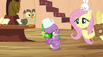 """Fluttershy and Spike """"does this mean you'll do it?"""" S03E11"""