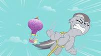 Fluttershy chasing Rainbow Dash S2E02
