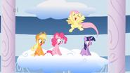 Fluttershy cheering Rainbow Dash S1E16