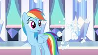 Rainbow Dash surprised despite S3E1