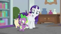 Spike -it's from Princess Celestia!- S8E25