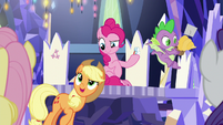 Applejack jokingly suggests rubber chickens S9E14