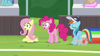Fluttershy and Pinkie in complete shock S9E15