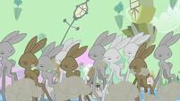 Long-legged bunnies stampeding S2E02