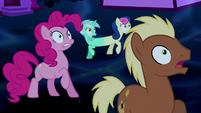 Pinkie Pie and ponies in shock S5E13