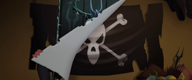 Pirate flag under the Storm King's banner MLPTM