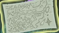 Princess Celestia's map of Equestria S9E13